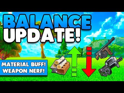 MATERIAL BUFF / WEAPONS NERF UPDATE! | NEW BALANCE UPDATE! | FORTNITE BATTLE ROYALE
