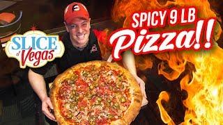 Massive 9lb Double Down Pizza Challenge in Las Vegas!!