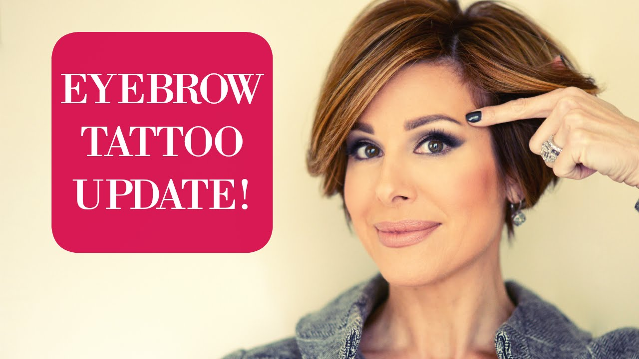 Eyebrow Tattoo Update Second Treatment Results Youtube