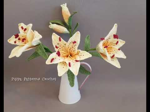 Crochet Pattern For Yellow Tiger Lily Youtube