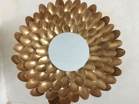 Mirror Decoration with Plastic Spoons