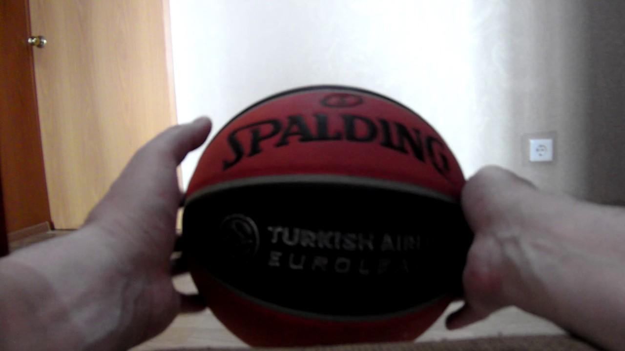 c114f8aa РУ — Мяч баскетбольный Spalding TF-1000 Legacy Euroleague Offical Ball,  размер 7