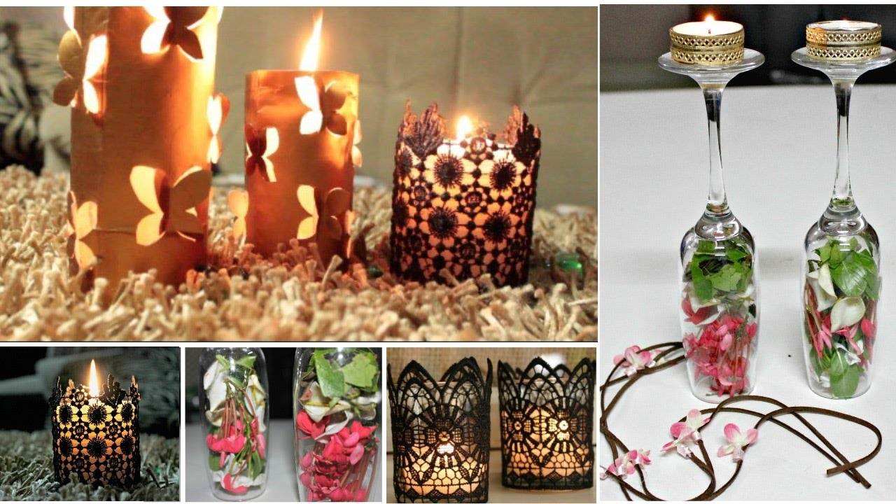 3 Quick and Easy Last Minute Diwali Decoration Ideas - YouTube for Diwali Decoration Ideas For Living Room  45hul