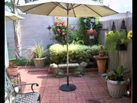 DIY courtyard decorating ideas - YouTube