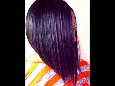 Purple Bob :Isis Red Carpet M-Part Synthetic Lace Front Wig - RCP710 DAISY