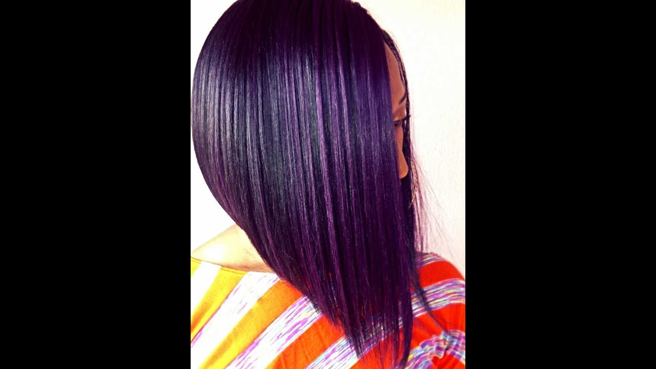 Purple Bob Isis Red Carpet MPart Synthetic Lace Front