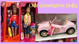 HUGE SELECTION OF OUR GENERATION DOLLS @ TARGET STORE    COME AND SHOP WITH ME