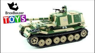 COBI Panzerjäger Tiger (P) Ferdinand - Brick Builder Toys - Lego Speed Build