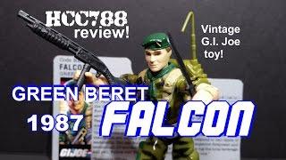 HCC788 - 1987 FALCON - Green Beret- Vintage G.I. Joe toy review! HD