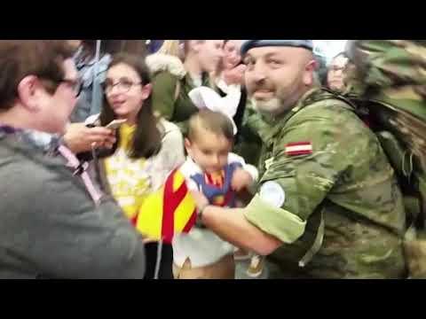 Emocionante llegada a Galicia de la última rotación de la Brilat en Líbano