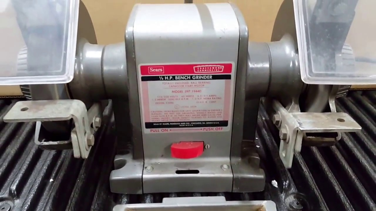 My 1 2hp Craftsman Commercial Block Bench Grinder Youtube