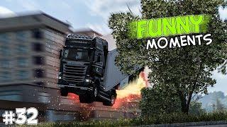 EP.#32 - Funny & Random Moments - Euro Truck Simulator 2