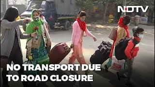 Farmers Protest: Commuters Face Road Blockade As Farmers' Protest Continues