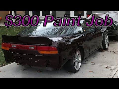 5.0 240SX GETS $300 PAINT JOB!