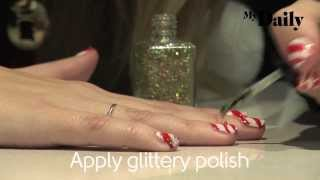How to get candy cane nails | MyDaily Advent Calendar Thumbnail