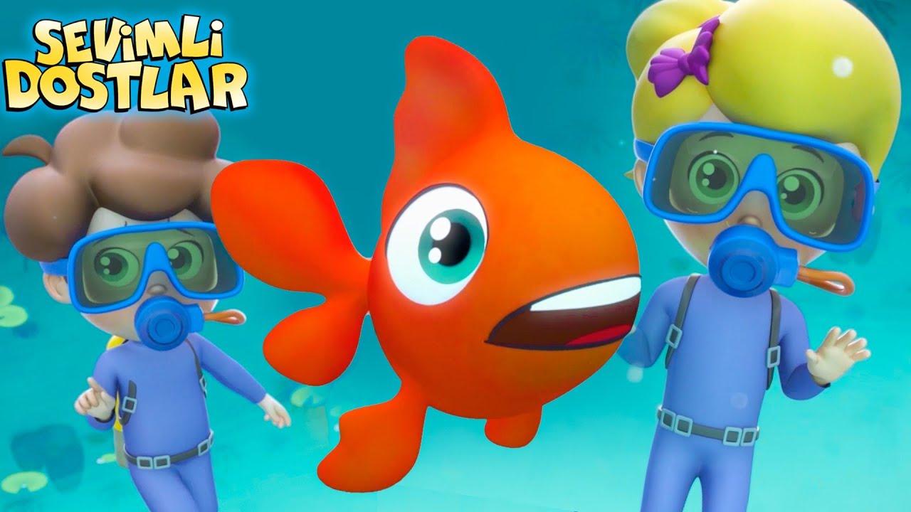 Kırmızı Balık | Sevimli Dostlar ve kırmızı balık bebek şarkıları | 3D Kirmizi Balik çocuk şarkısı