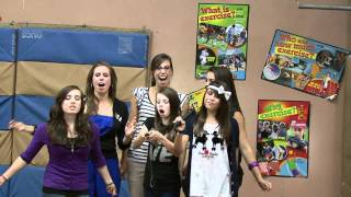 Cimorelli singing for 5th graders