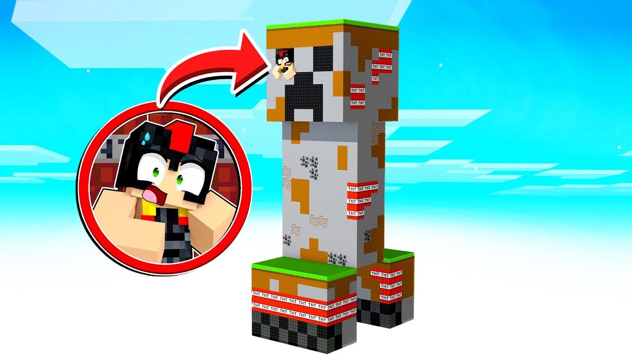 Sólo el 1% SOBREVIVE a la ISLA CREEPER!!! 😱🤯 Mapa Skyblock Minecraft
