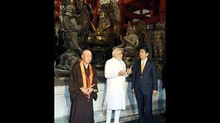 PM Modi visit Toji Temple with Japan PM Abe | PM Modi visits ancient Buddhist temple in Japan