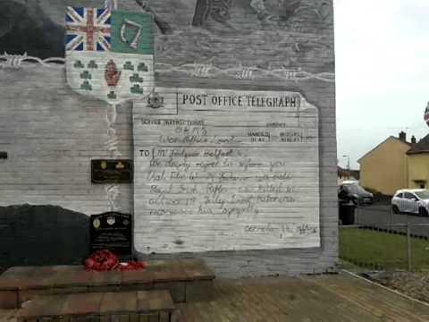 36th Ulster Division, gable wall Memorial at Clonduff Belfast