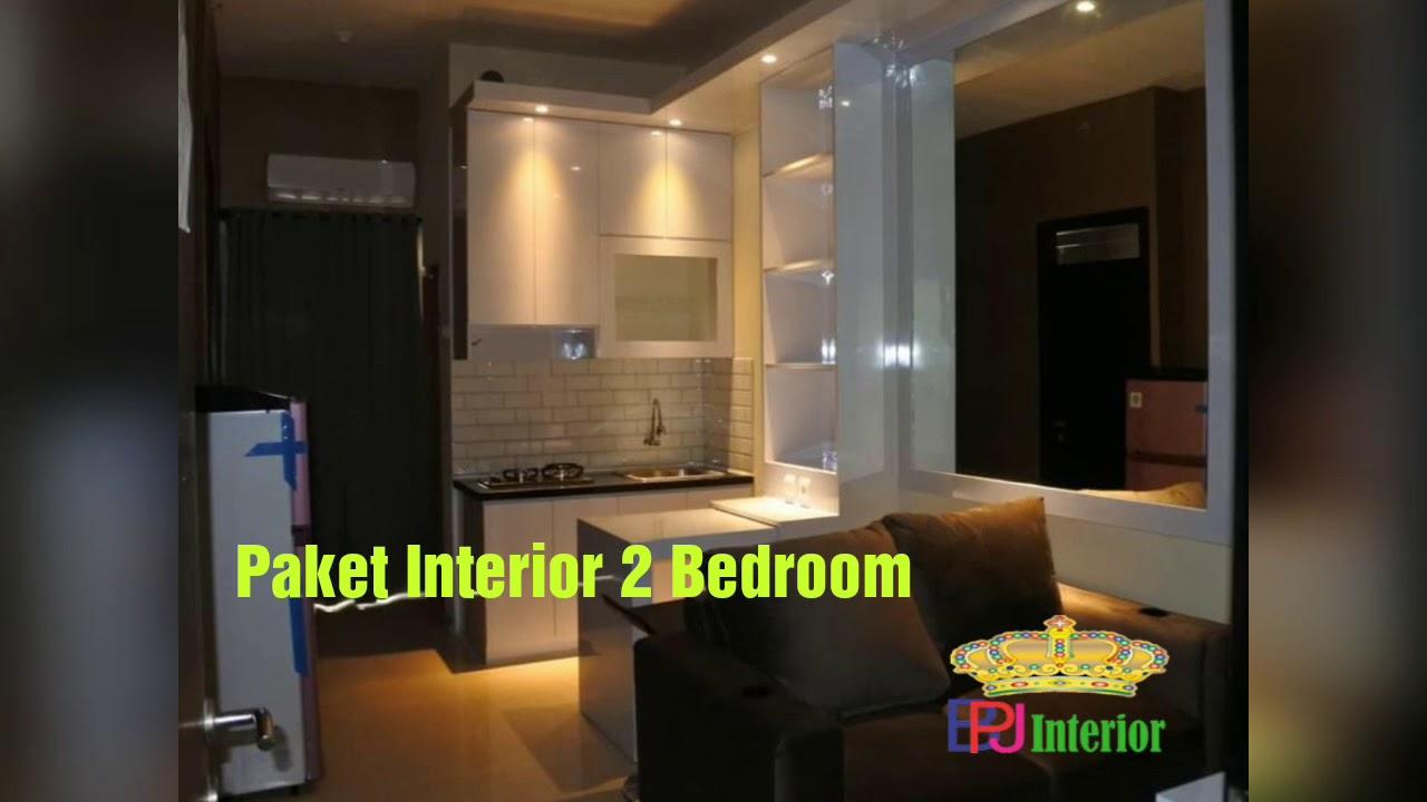 contoh desain interior 2 bedroom apartemen casablanca east residence