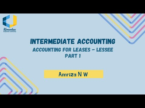 Praktik AKM II - Accounting for Leases  - Lessee Part 1