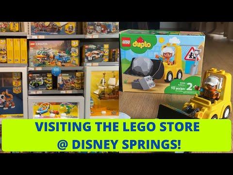 The LEGO Store at Disney Springs! NEW DUPLO Bulldozer Build!
