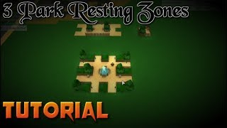 Roblox How to Make 3 Resting Zones - Theme Park Tycoon Tutorial