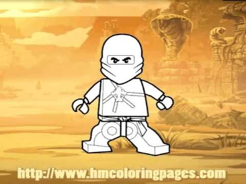 Lego Ninjago Coloring Pages For Kids YouTube