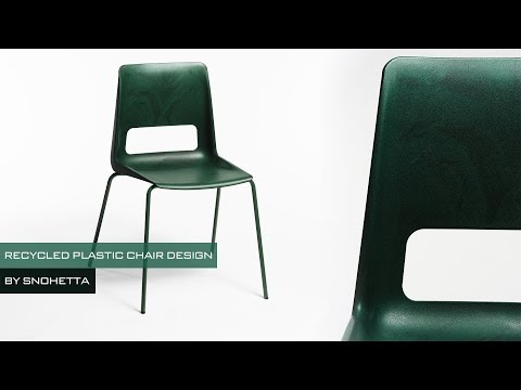 A Chair Made from Recycled Plastic by Snøhetta