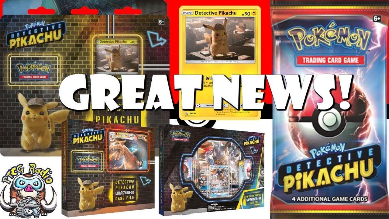 Awesome Detective Pikachu Pokemon Tcg Products Revealed Youtube