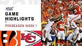 Bengals vs. Chiefs Preseason Week 1 HighlightsNFL 2019