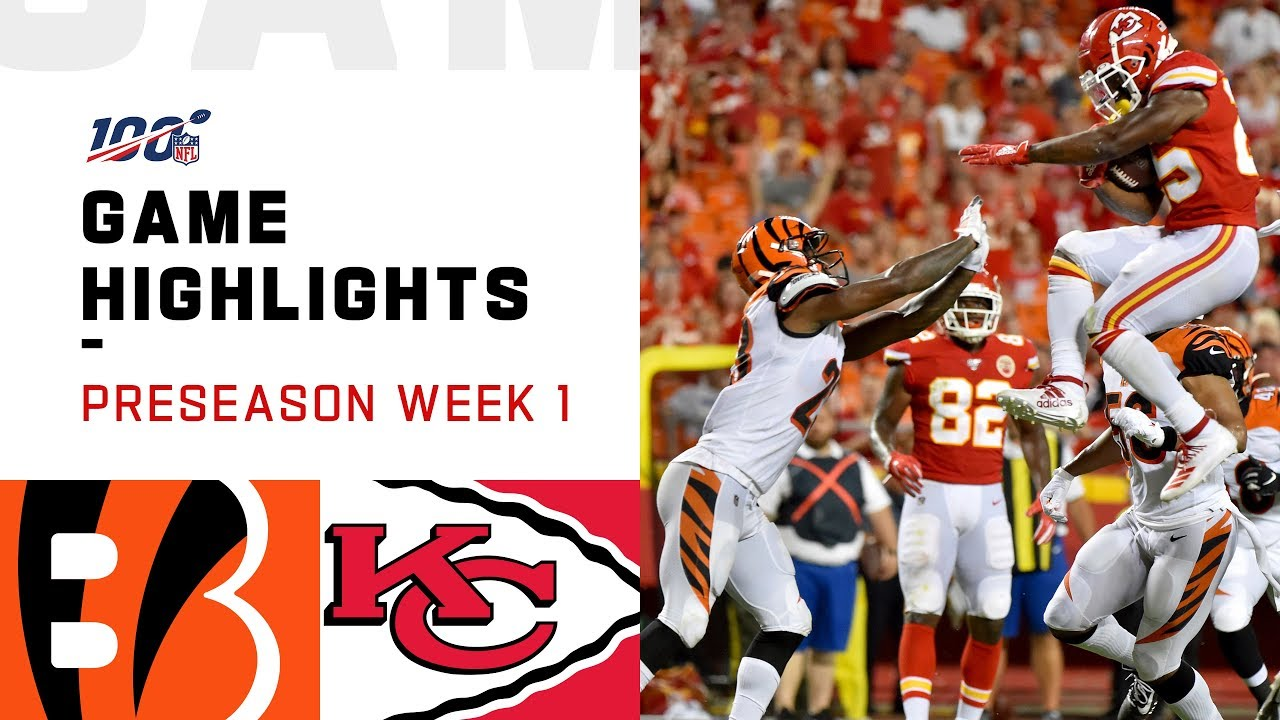 Bengals vs. Chiefs Preseason Week 1 Highlights | NFL 2019