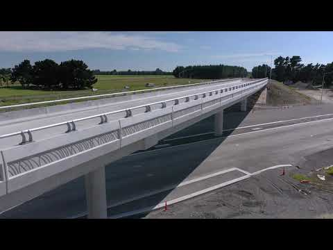 Christchurch Southern Motorway – Stage 2, December 2018 drone footage