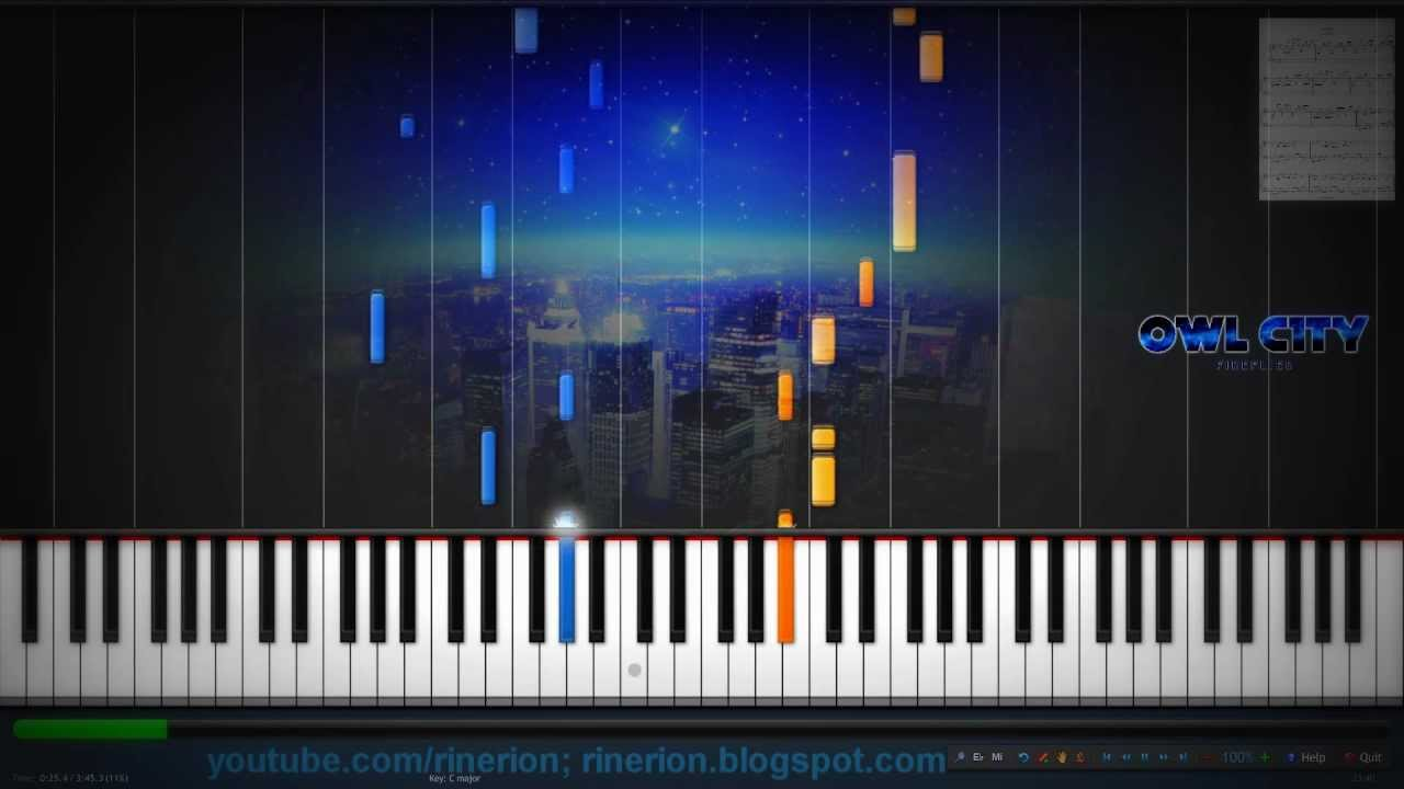 Fireflies Piano Chords Image Collections Piano Chord Chart With
