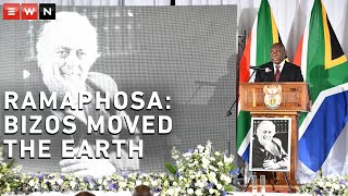 DESCRIPTION: President Cyril Ramaphosa paid tribute to late advocate George Bizos at at the Greek Orthodox Church in Hillbrow. He was laid to rest at Westpark Cemetery.  #GeorgeBizos