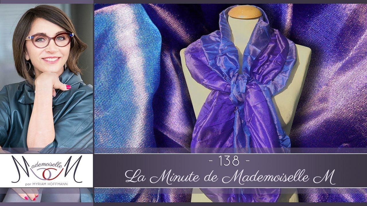 61f793382da3 8 façons de nouer un grand foulard carré - La Minute de Mademoiselle M138