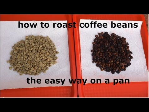 How To Roast Coffee Beans At Home On A Pan  - Easiest Cheapest Method