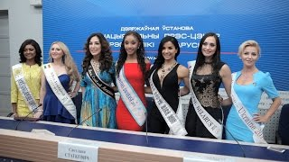 Beauty pageant Mrs UNIVERSE 2015 press conference. 55 most beautiful women of the world