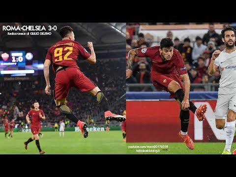Roma-Chelsea 3-0 - Tutta la radiocronaca di Giulio Delfino (31/10/2017) da Rai Radio 1