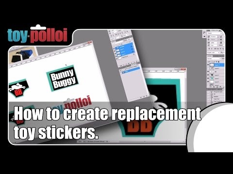 How To Create Replacement Stickers For Vintage Toys.