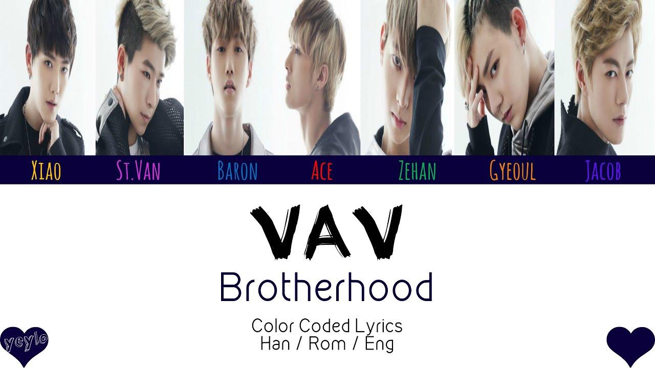 VAV (브이에이브이) - BROTHERHOOD [Color Coded Han|Rom|Eng Lyrics] / by yeylo