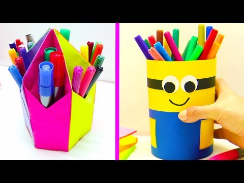 14 DIY PENCIL HOLDER CRAFT IDEAS || COOL AND EASY CRAFT IDEAS