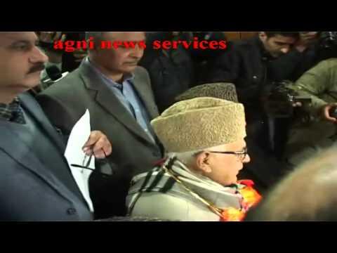 SRINAGAR .. UNION MINISTER FAROQ ABDULLAH FILED HIS NOMINATION