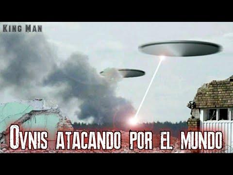 Ovnis grabados por el mundo atacando volcanes, bases militares u objetivos militares