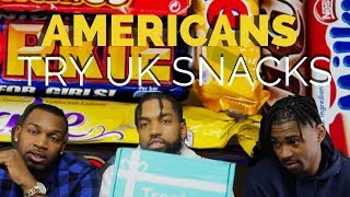 AMERICANS TRY UK SNACKS!!!