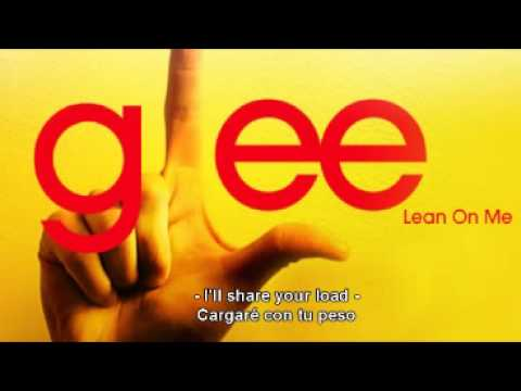 Glee Cast | Lean On Me [ With Lyrics Spa-En] ~