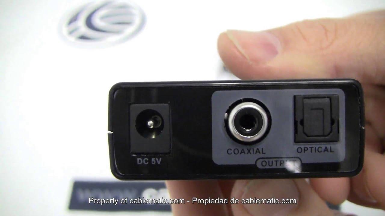Conversor De Audio Anal 243 Gico A Digital 2 Rca A Coaxial Y