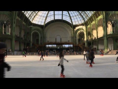 A skating rink opens at Paris' Grand Palais