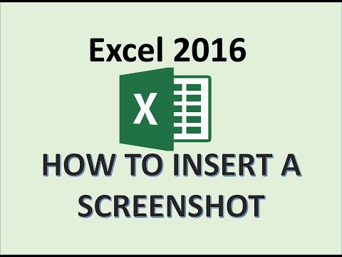 Excel 2016 - Screenshot Tutorial - How to Insert Screenshots in Microsoft Office - Screen Shot in MS